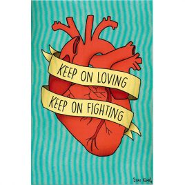 Keep On Loving Postcard