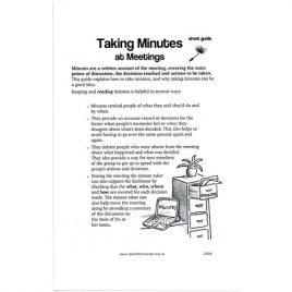 Short Guide: Taking Minutes at Meetings